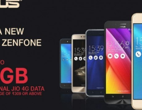 Asus partners Reliance Jio; to offer up to 100GB 4G data to users