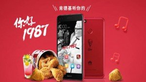 Huawei launches Limited Edition KFC smartphone to mark its 30th anniversary of operating in China