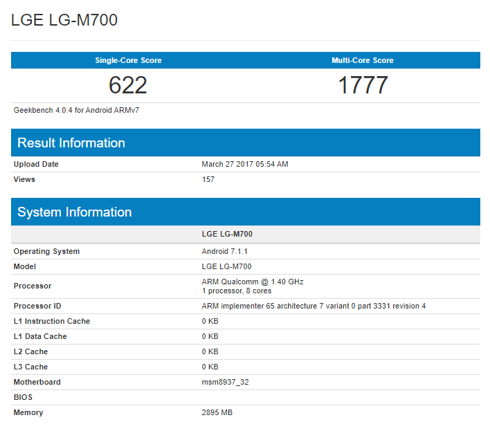 Image Result For Lg G Geekbench