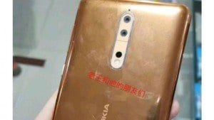 Nokia 8 in copper color, with dual rear cameras leaked online