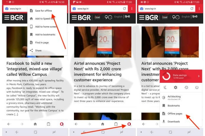 How to save web pages on Android for offline viewing | BGR India