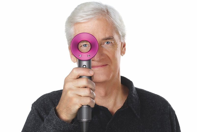 Sir James Dyson, Founder & Chief Engineer- Dyson, with the SuperSonic Hairdryer
