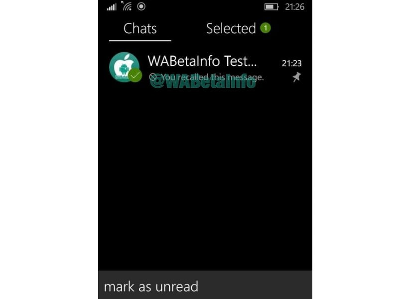 WhatsApp beta new features for Windows Phone