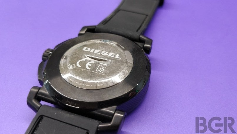 diesel on time hybrid smartwatch back