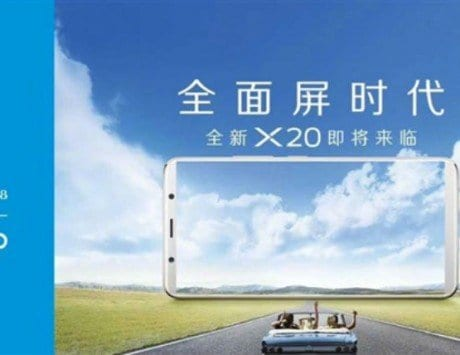 Vivo X20, X20 Plus rumored to feature bezel-less display, 6GB of RAM