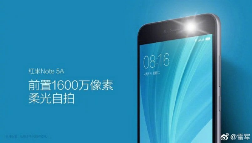 Xiaomi Redmi Note 5A key details leaked ahead of August 21 launch