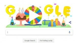Google's 19th birthday celebrated with a surprise spinner