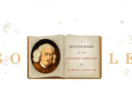 Google Doodle celebrates 308th birthday of Samuel Johnson, the father of the modern dictionary