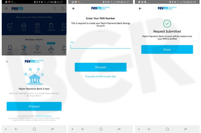 paytm payments bank application