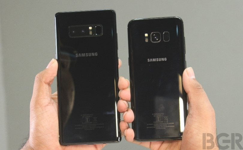 samsung galaxy note 8 vs s8 back