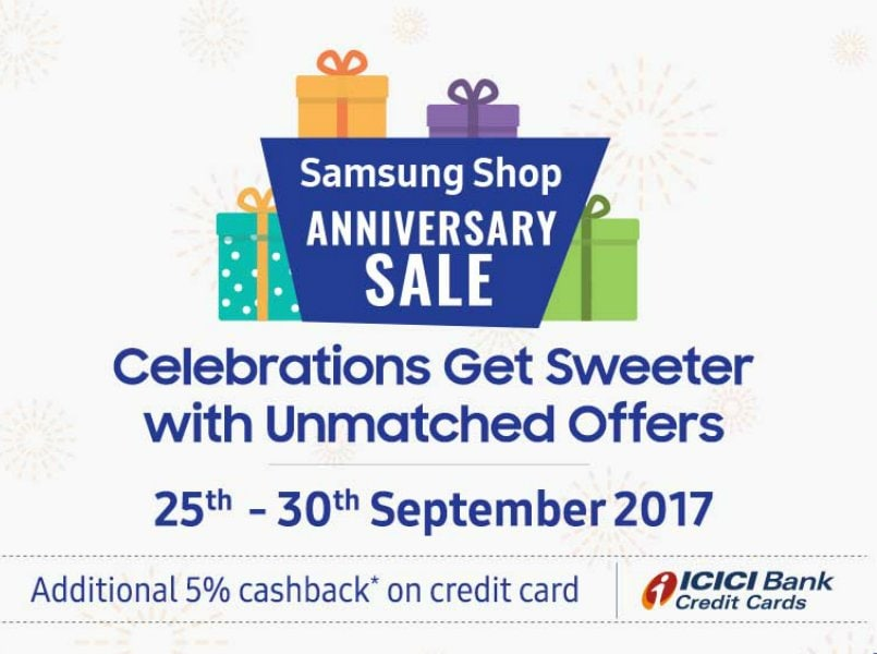 Samsung Shop Anniversary Sale: Discounts on Galaxy S8 duo, Galaxy On series and more