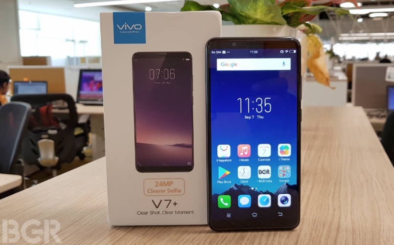 Vivo V7+ with FullView display launched in India, priced at Rs 21,990: Specifications, features
