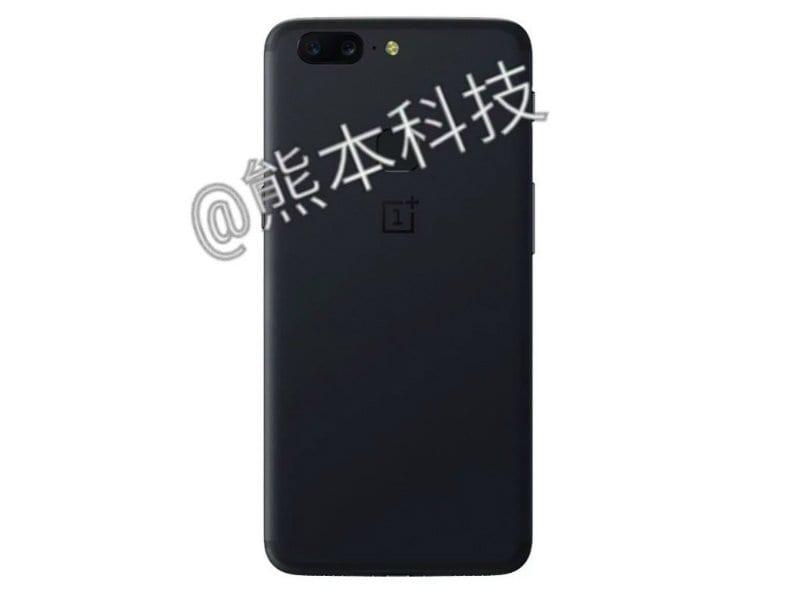 OnePlus 5T leaked render back