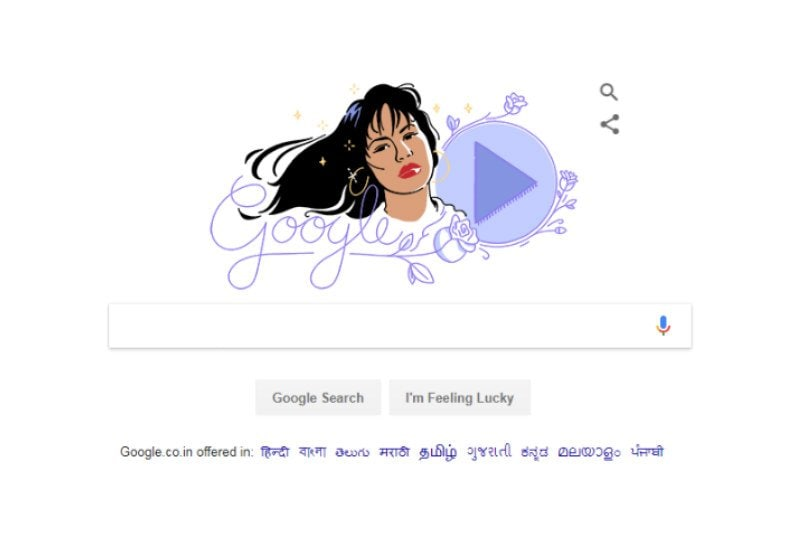 Selena honored with her own Google Doodle