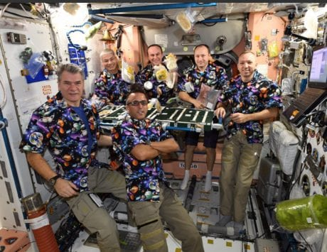 ISS crew celebrates Thanksgiving in space
