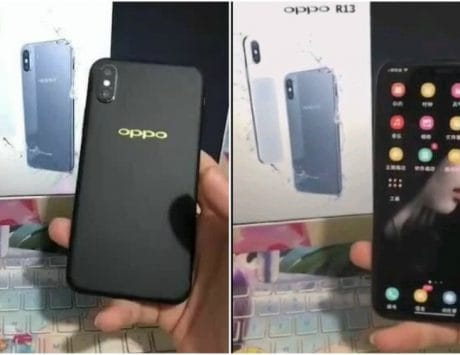 Oppo R13 images leak reveals similar design to Apple iPhone X