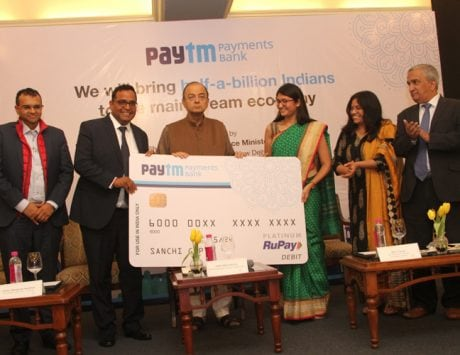 FM Arun Jaitley inaugurates Paytm Payments Bank
