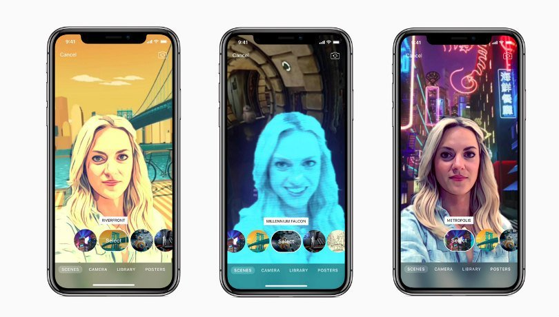 Apple Clips update adds AR selfie backgrounds, Star Wars
