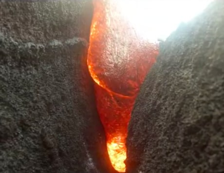 GoPro camera gets covered in lava, survives it and shoots this amazing video