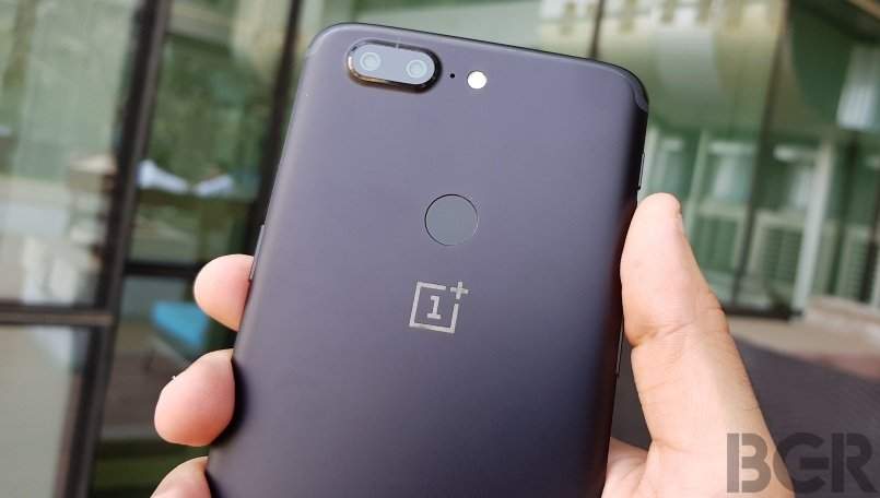 oneplus 5t back top