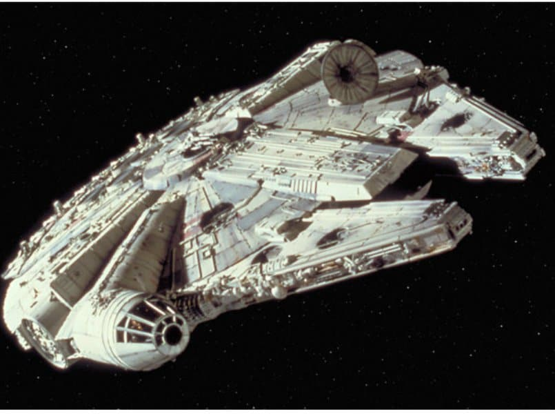 Star Wars' Millennium Falcon spotted on Google Earth