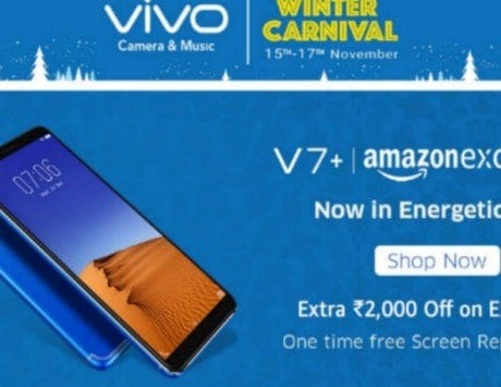Vivo Winter Carnival on Amazon India: Get up to Rs 3,000 off on V7+, V5s, V5 Plus and other smartphones