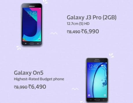 Check out deals on Samsung devices during Flipkart 'New Pinch Days' sale