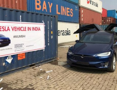 First ever Tesla lands in India