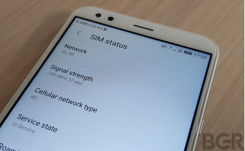 android signal strength