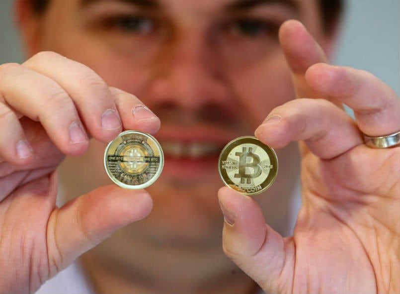 bitcoins-stock-image