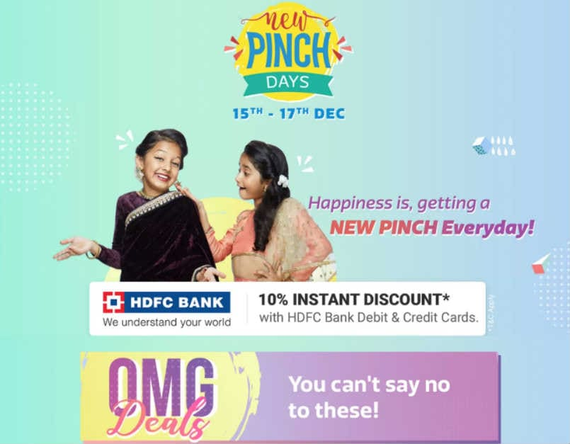 Flipkart's New Pinch days sale: Deals on Xiaomi Mi A1, Vivo V7, Samsung Galaxy On Nxt and more