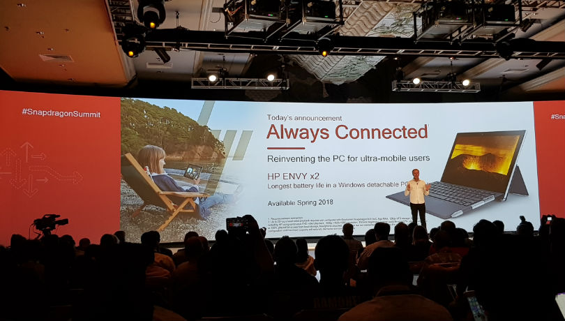 HP Envy x2 'Always Connected PC' with Snapdragon 835 SoC, Windows 10 announced