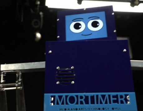Meet Mortimer, a robot drummer who posts pictures of jamming sessions on Facebook