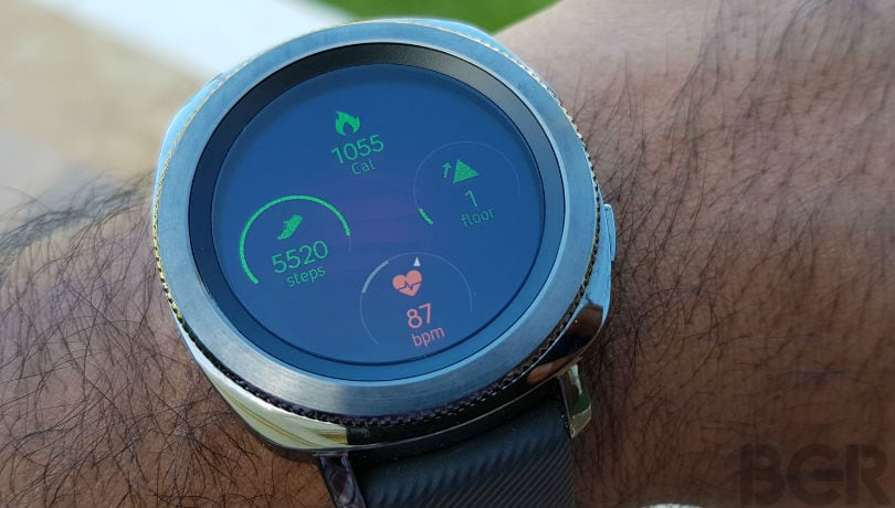 samsung gear sport review fitness widgets