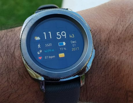 Samsung Galaxy Watch logo appears in Korea
