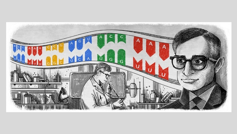 Har Gobind Khorana: Google celebrates 96th birthday of Indian-American biochemist with Doodle