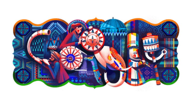 India republic day doodle feat
