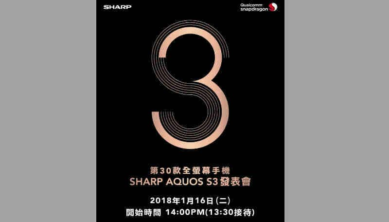 Sharp Aquos S3 Leaked Image Shows Display Will Have A Notch