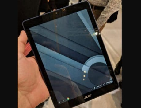 Acer Chrome OS tablet spotted ahead of official launch