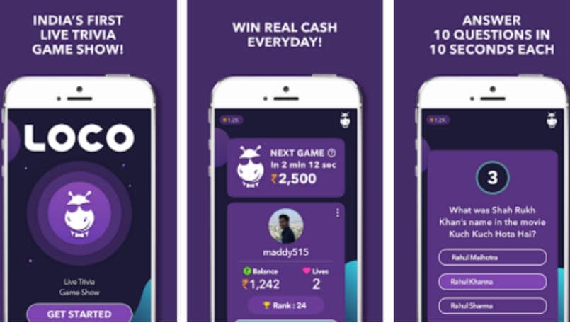 Loco, an HQ Trivia-like game helps you earn up to Rs 10,000