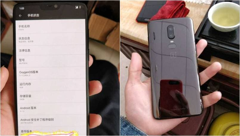 OnePlus 6 leaked image shows iPhone X-style notch and Galaxy S9-like dual camera setup