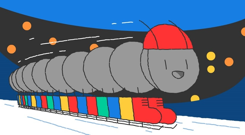 PyeongChang Winter Olympics 2018: Google Doodle celebrates Day 13 with a speed skating millipede
