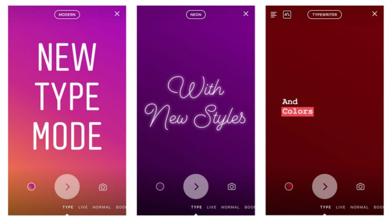 Instagram introduces text-only stories with Type Mode