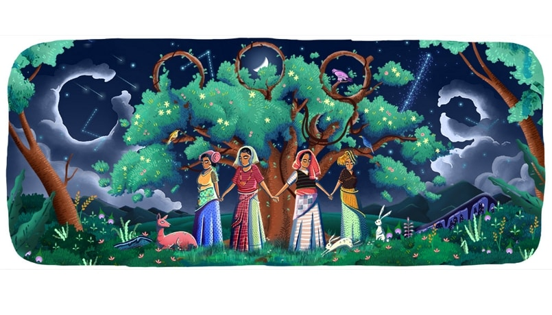 Google Doodle commemorates 45 years of Chipko movement