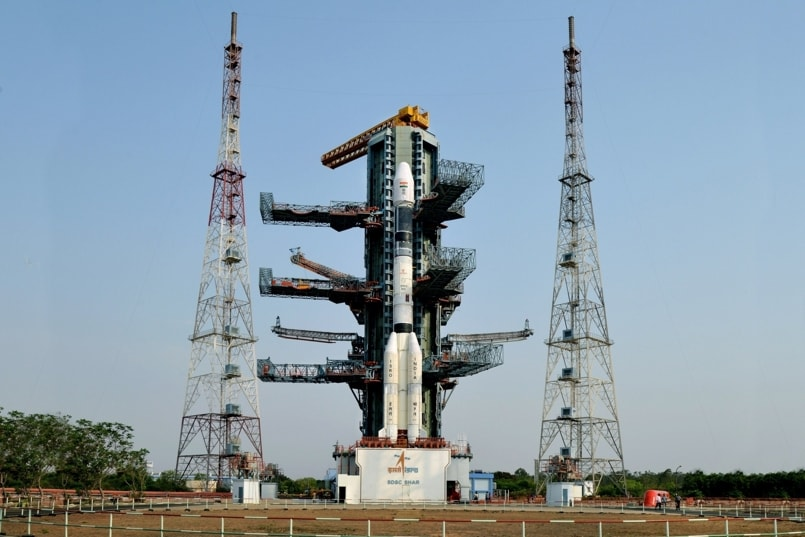 GSLV rocket carrying communication satellite lifts off