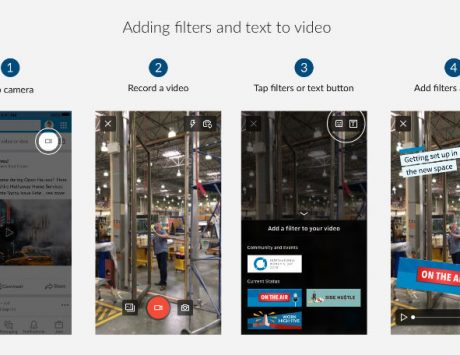 LinkedIn adds new filters and text styles to its video editing option