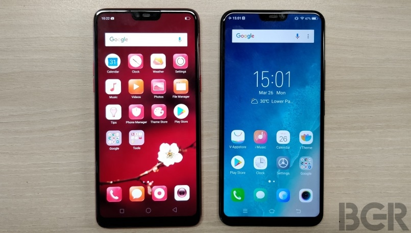 Oppo F7 vs Vivo V9: Prices, specifications and features compared