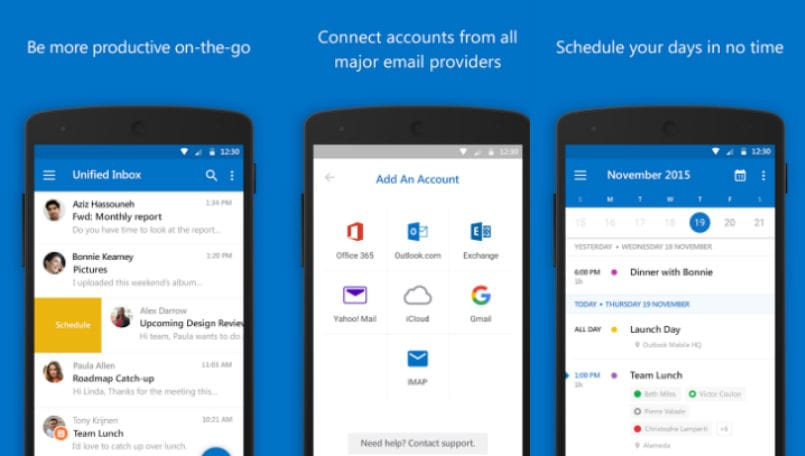 outlook for android main