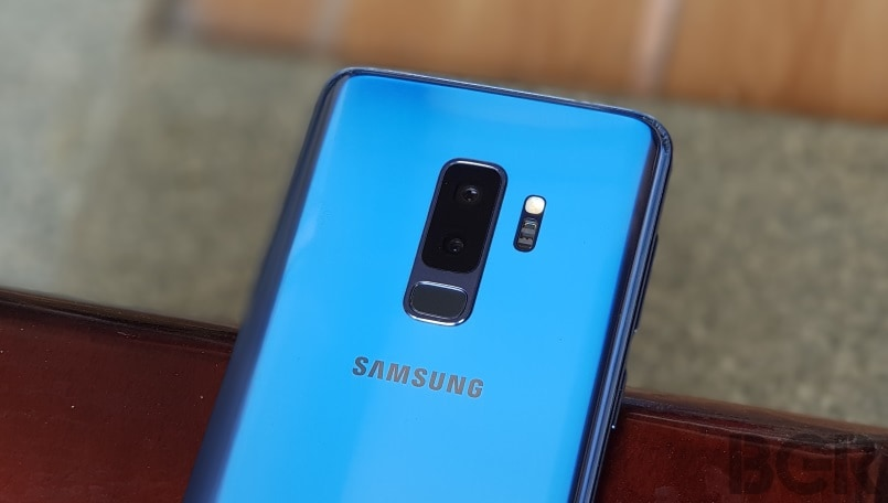 samsung galaxy s9+ rear camera