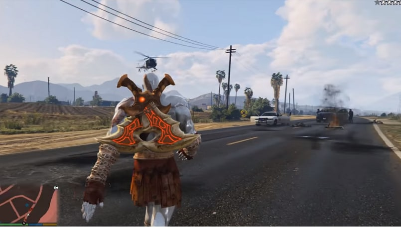 new mod brings kratos from god of war to gta v bgr india